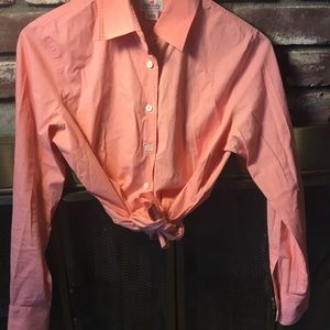 Tops - Pink J.Crew long sleeve button up